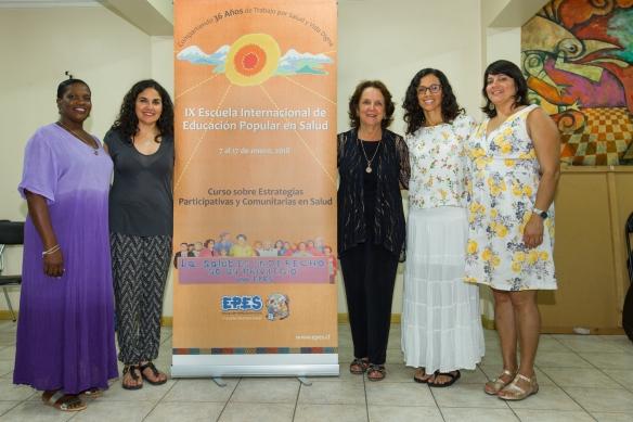 Karen y Angie con mujeres de PR -graduacion.jpg